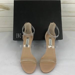 INC clear & nude stilettos new without tags size 6